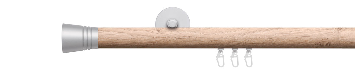 VION 28 mm LUNGO - silver/wild oak - Pole set no. 4-2912-108-222