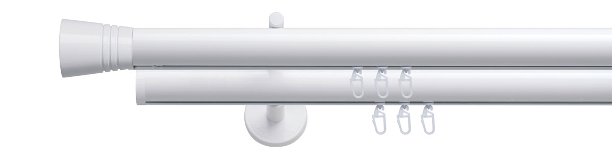 VION 28 mm LUNGO - white - Pole set no. 5-2912-28