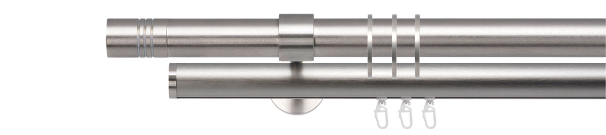 VION 28 mm FANDO - stainless steel - Pole set no. 3-2910-116