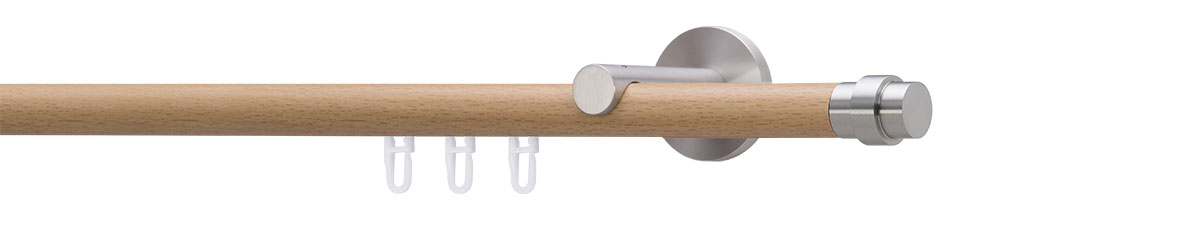 VION 20 mm PISTO - stainless steel / beech - Pole set no. 4-2137-116
